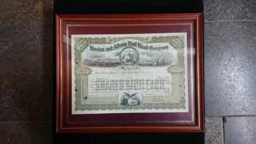 Boston and Albany Railroad Company Stock Certificate 1944 framed