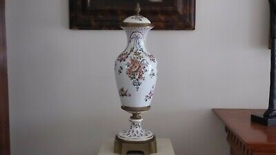 """18th Century 22"""" Sevres Urn w/ Musical and Floral Motif. Sevres Mark, Initialed"""