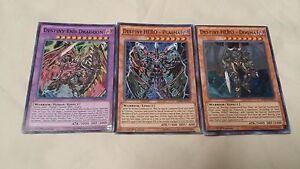 Yugioh Destiny End Dragoon Fusion Set Destiny Hero Dogma Plasma + Bonus Card!