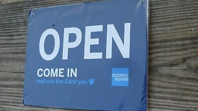 New Open And Closed Sign Amex American Express 11 X 8.5