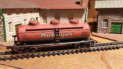 Used, Vintage N Gauge Atlas Mobilgas 3 Dome Tank Car for sale  McHenry