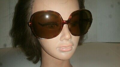 VINTAGE OVERSIZED SUNGLASSES MADE IN FRANCE LARGE TORTOISE SHELL 1970s (French Made Sunglasses)