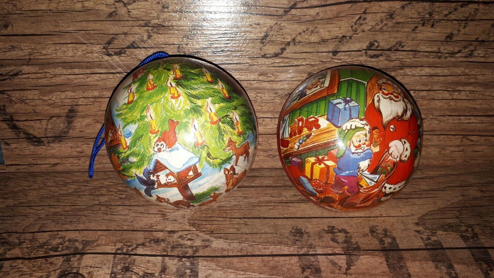 DDR Ostalgie Pappkugel Weihnachten Weihnachtskugel Kugel Pappe