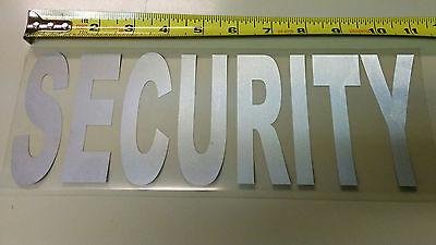 10 Security Uniform Reflective Iron On Emblem Decal Logo 11inch X 3 78 Inch