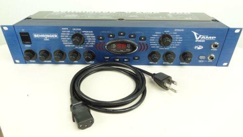 Behringer V-Amp Pro Rack Mount Modeling Guitar Pre Amp Effects Processor