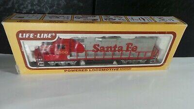 HO LIFE-LIKE Santa Fe Electric Train Set NO.3500 POWERED LOCOMOTIVE W/WORKING H