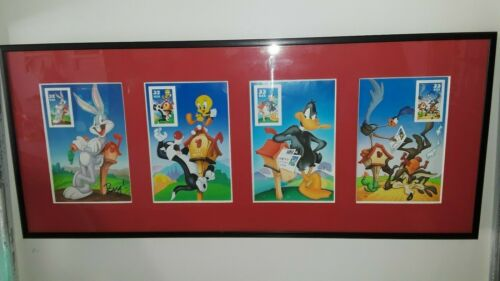 USPS Stamp / lithograph Bugs, Tweety,daffy,road runner,warner bros. New