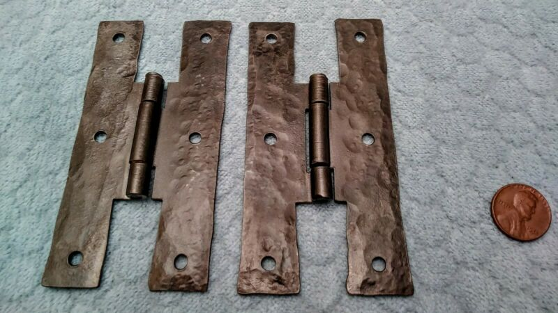 H Hinges Handforged 4 Inch Blacksmith Made NOS