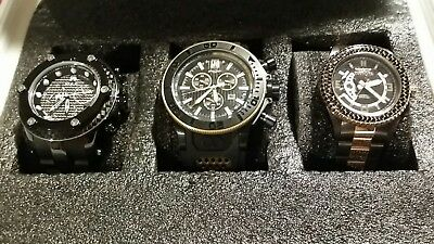 INVICTA JASON TAYLOR MODEL 17829, JT 19577 & INVICTA 15599 PRO DIVER * 3 PC. LOT