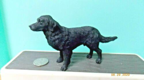 Flat-Coated Retriever Black Dog Figure