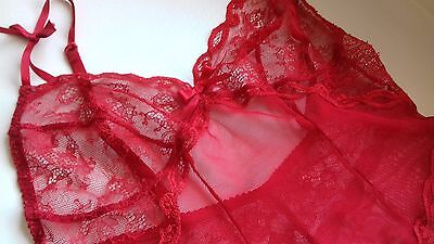 AGENT PROVOCATEUR RARE SOLD OUT RED LOVE LACE SLIP SIZE (4) LARGE UK12- 8fc7751ef