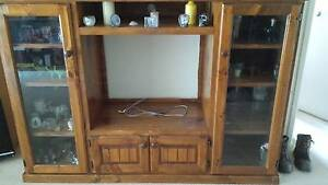 Tv unit solid wood Kingswood Penrith Area Preview