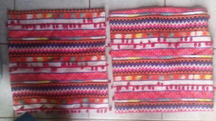 3 beautiful NEW hobo chic cushion covers