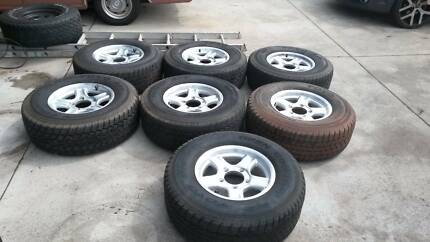 5 STUD LANDCRUISER MAGS x 7 ALL P275/70 16 TYRES Mount Nasura Armadale Area Preview
