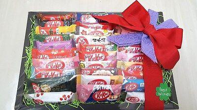 NESTLE JAPAN KITKAT MINI 30PCS ASSORT GIFT SET  TOKYO BANANA SAKE GRAPE F/S RARE