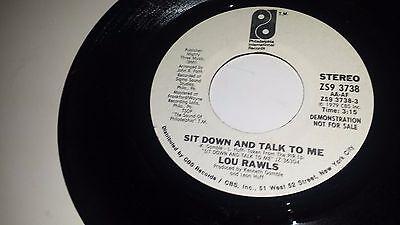 LOU RAWLS Sit Down And Talk To me PHILADELPHIA INTERNATIONAL 3738 SOUL PROMO