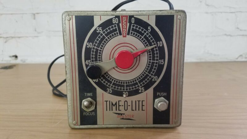 Vintage Time-O-Lite Master Industrial Timer Corp Series M Type M-49 750 watts