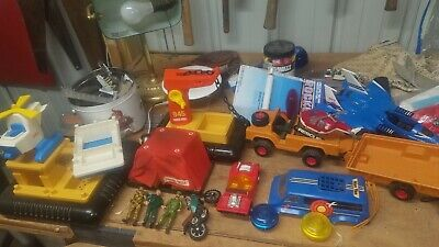Vintage Fisher Price Lot Offshore Cargo #945 Helicopter safari etc
