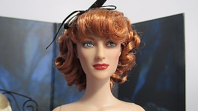 TONNER JOAN CRAWFORD, HOLLYWOOD STARLET, REDRESSED,  CURLY ROOTED RED HAIR!