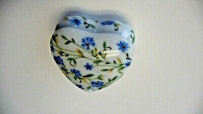 Imoges France heart box jewelry case LEC porcelain