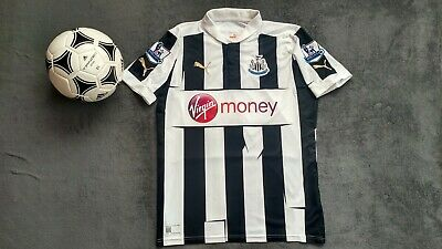 NEWCASTLE UNITED 2012-2013 PUMA HOME FOOTBALL SOCCER SHIRT JERSEY M image