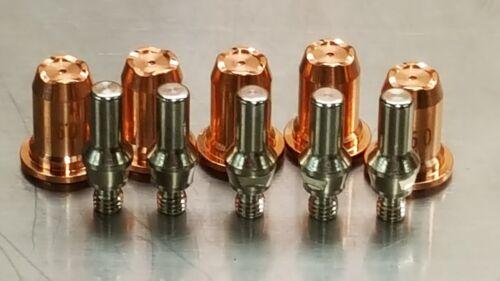 10pc PT-60 iPT60 iPT-60 PT-40 40A Contoured Plasma Drag Cut Nozzles + Electrodes