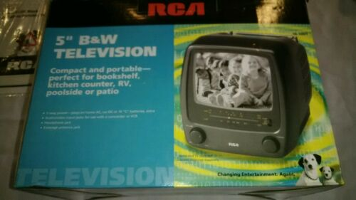 "Vintage RCA 5"" Black & White Portable TV BRAND NEW"