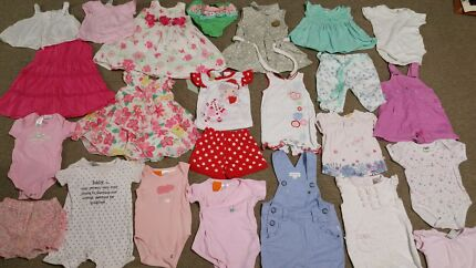 Massive bulk lot of baby girl size 00 summer clothes  Andrews Farm Playford Area Preview