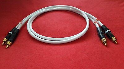Canare L-4E6S Interconnect Audio Cable Neutrik Rean NYS373-9 RCA Plugs White -