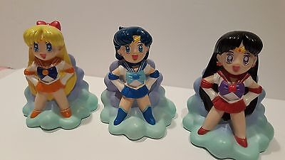 Lot of 3 Sailor Moon Coin Bank MARS VENUS MERCURY SMOKING HOME READ DESCRIPTION