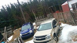 Two 05 Chevy Equinox's $500 for both if sold together a.s.a.p!!