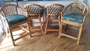 Cane lounge suite, cabinet & bar stools in good condition Gerroa Kiama Area Preview