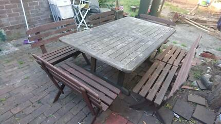 Picnic table with 6 benches ( seats 12-18)