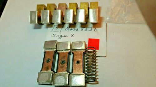 Class 8536 Size 3 Square D Contact Kit  only 1 spring, for 3-pole contactor USED