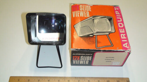 Vintage Brown Airequipt Slide Viewer with Original Box - Tested & Works