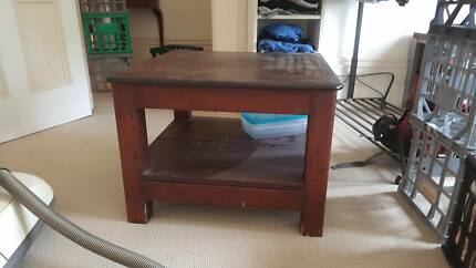 Stained timber TV Stand/ coffee table