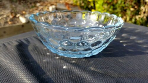 "Blue Bubble 4½"" Berry Bowl - Fire King"