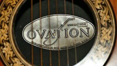 Ovation USA Balladeer 1111-4 1975 with Ovation case, natural top