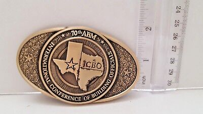 Texas State Belt Buckle international  conference of building officials 70th abm