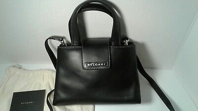 BULGARI PALLADIUM HARDWARE DESIGNER PURSE/HANDBAG! Fine Leather (Bulgari Designer)