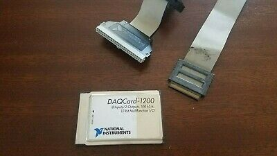 National Instruments Pcmcia Daqcard-1200 Ni Daq Card Analog Input With Cable