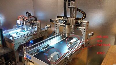 Robo-shop Pro 4th Axis W Tailstock For Your Cnc Router A Axis 3 Jaw Chuck