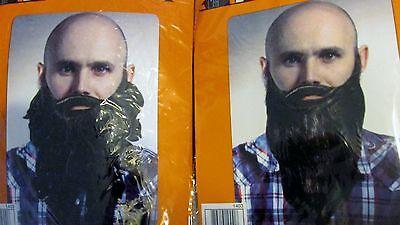 New Halloween costume long black straight or curly beard w/ mustache  - Halloween Costumes W Beards