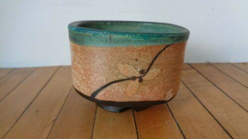 Modern tea bowl temmoku signed