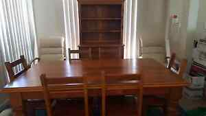 Table and 6 chairs with Hutch Griffin Pine Rivers Area Preview