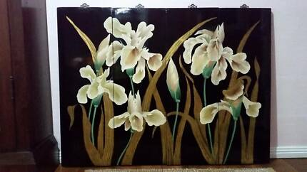 4 ANTIQUE, HAND PAINTED, DECORATIVE WALL PANELS Kurrajong Hawkesbury Area Preview