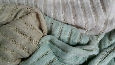 STRIPED HAIR STRETCH SWEATER KNIT FABRIC-3 COLOURS-SOLD BY THE METER