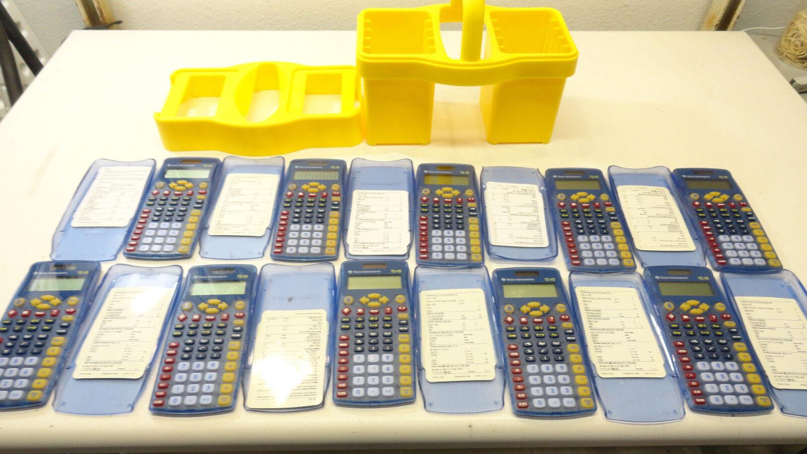 5x Texas Instruments TI-15 Explorer Scientific Calculator- No  case Included