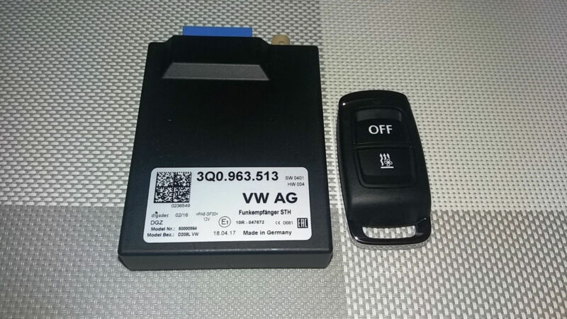 NEW OEM Webasto Telestart Unit Controler 3Q0963513 + Remote Control transmitter