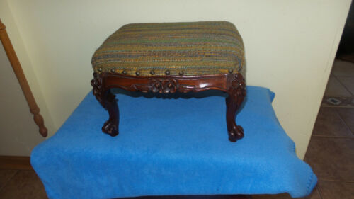 Beautiful 19th Century Original French Carved FootStool,